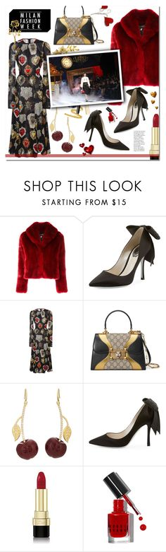 """""""Pack and Go: Milan Fashion Week"""" by rosalind10 ❤ liked on Polyvore featuring La Seine & Moi, René Caovilla, Dolce&Gabbana, Gucci and Bobbi Brown Cosmetics"""