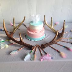 Bows & Arrow Gender Reveal....Fancy Cakes by Margaret Smithson via Facebook Country Gender Reveal, Baby Gender Reveal Party, Gender Party, Baby Party, Baby Shower Parties, Baby Shower Themes, Shower Ideas, Bob Marley, Arrow Baby Shower