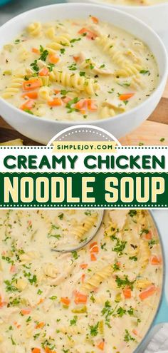 Learn how to make Chicken Noodle Soup for the ultimate comfort food! This easy soup recipe is a one-pot wonder. In just a few steps, you can have a big pot of everything a good dinner should be. So creamy and delicious! Easy Soup Recipes, Easy Dinner Recipes, Hello Kitty House, One Pot Wonders, Chicken Noodle Soup, Creamy Chicken, Recipe Using, Recipe Ideas, Noodles