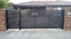 If you need a new Automatic Gates in Melbourne? Then contact Kontis Fencing are experts with automatic gates Melbourne wide. Select from a big range of styles to enhance your property. Modern Driveway, Door Gate Design, Property Gates, House Gate Design, Entrance Gates Design, Modern Landscaping, Front Gate Design, Iron Front Door, Sliding Gate