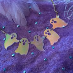 Ghosts Laser Cut Acrylic Necklace by imyourpresent on Etsy