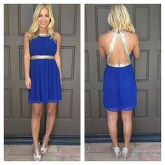 Queen Of The Party Sequin Dress- ROYAL BLUE ✔️