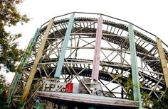The Comet roller coaster, Lincoln Park, 2002.
