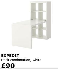 Ikea desk combo for nail bar and polish storage