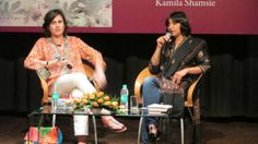 Kamila Shamsie and Nilanjana Roy at the launch of A GOD IN EVERY STONE at the British Council, New Delhi