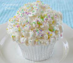 """Idea: decorated popcorn """"cupcakes"""""""