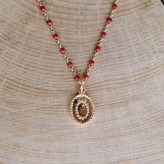 Drôle Bon morceau rosaire en bois Afrique Pendentif Perle Carte Collier