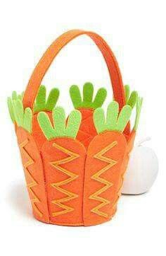 Mud Pie 'Carrot' Felt Easter Basket available at Nordstrom Easter Art, Easter Bunny, Easter Eggs, Easter Projects, Easter Crafts For Kids, Spring Crafts, Holiday Crafts, Diy Ostern, Easter Activities