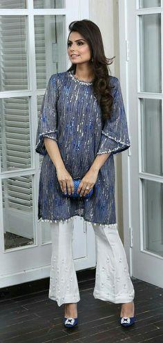 Playing Dress Up with Cross Stitch - Sunday Indian Attire, Indian Wear, Kurta Designs, Blouse Designs, Stylish Dresses, Fashion Dresses, Pakistani Outfits, Sari, Only Fashion