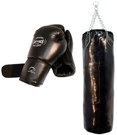 Last Punch Heavy Duty Pro Boxing Gloves and Huge Punching Bag