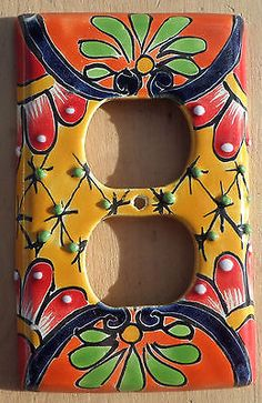 Talavera Mexican Pottery wall plate light switch double outlet cover Multi color for USD8.99 #Collectibles #Cultures #Ethnicities #Talavera  Like the Talavera Mexican Pottery wall plate light switch double outlet cover Multi color? Get it at USD8.99!