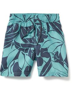 Hibiscus-Print Swim Trunk