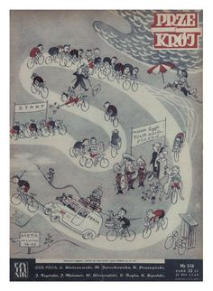 Cover of Przekrój magazine. Issue dated August 21, 1949.
