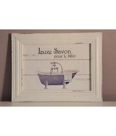 Cuadro baño vintage