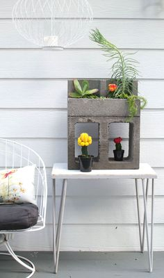 Urban Jungle Concrete Block Cacti Planter - Homeology Modern Vintage