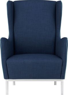 Wingback chair for living room. Matches the hue of the wall paint and the couch pillows