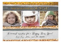New Year Sparkle Photo Card