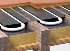 Confused - Between joists or suspended floors Water Underfloor Heating, Hydronic Heating, Flat Roof Skylights, Radiant Floor, Pole Barn Homes, Radiant Heat, Heating Systems, Confused, Plumbing
