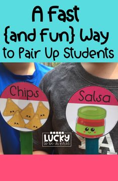Pair up students quickly and easily with these print and go student match up cards!