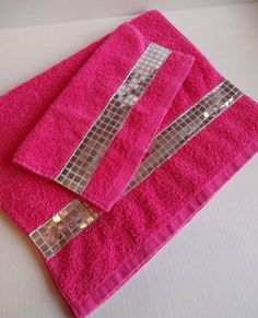 Wonderful From Etsy, Can Customize Towels Such As These With Silver Trim Hot Pink  Towels,