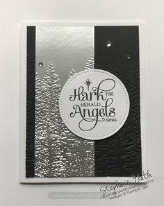 Homemade Christmas Cards, Merry Christmas To All, Stampin Up Christmas, Winter Christmas, Homemade Cards, Christmas Ideas, Wood Stamp, Embossed Cards, Winter Cards