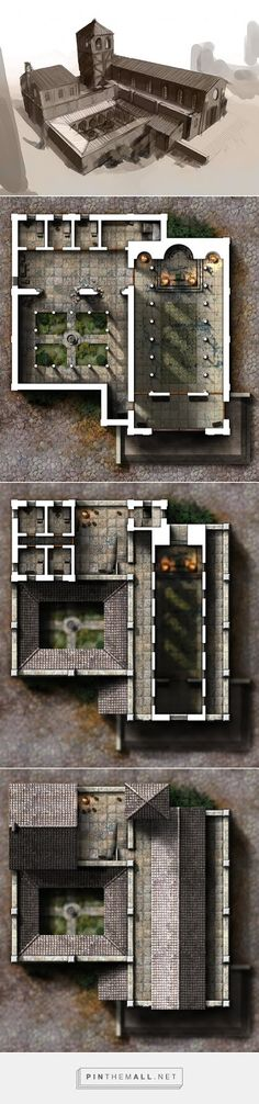minecraft building ideas - created via - Fantasy City, Fantasy Map, Fantasy Places, Medieval Fantasy, Dungeons And Dragons, Building Map, Building Structure, Building Ideas, Rpg Map