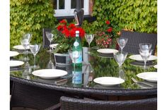 Royal Oval Rattan Garden Furniture Dining Table Set 10 Chairs FREE COVER WORTH £70