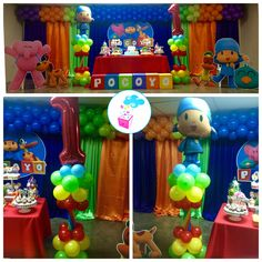 Pocoyo Birthday theme ShowerBox Events www.myshowerbox.com