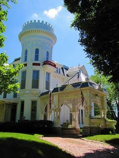 Looks like Fantasy Island | But its a mansion in Atchison, Kansas. This is a fantastic property, generally obscured from the street.