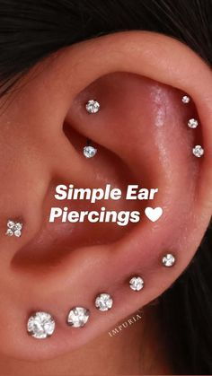 Full Ear Piercings, Ear Piercings Chart, Piercing Chart, Ear Peircings, Types Of Ear Piercings, Cute Piercings, Body Piercings, Piercing Tattoo, Ear Piercing Names