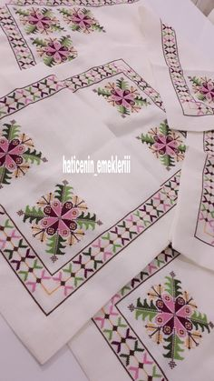 Cross Stitch Embroidery, Hand Embroidery, Embroidery Designs, Cross Stitch Heart, Cross Stitch Flowers, Modern Cross Stitch Patterns, Cross Stitch Designs, Wedding Gift Wrapping, Palestinian Embroidery