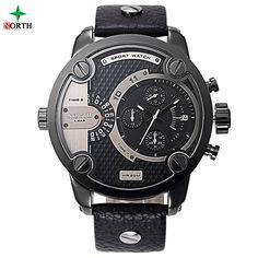Fashion Watches Men Luxury Genuine Brand NORTH Stainless Steel Sport Wristwatch