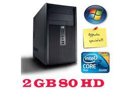 """""""""""PRODOTTO IN PROMOZIONE """"""""* HP DX2300 DUAL CORE 2 GB-80HD CON WINDOWS 7 CAVO INCLUSO GARANZIA 180 GIORNI"""
