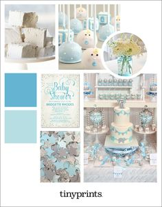 Blue and Silver Baby Shower Ideas for a Boy