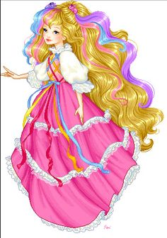 Lady Lovely Locks - the main protagonist. She wears a pink medieval dress and has blonde hair with streaks symbolizing her royalty in three colors: soft pink (dawn), gold (sun) and lavender (twilight). She is the defender of Kingdom Lovely Locks who is loyal, brave, kind, selfless, polite, optimistic, dependable and friendly, often like a princess.