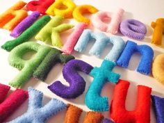 Etsy の Felt Stuffed Alphabet Felt letters for kids by HappiFlavor