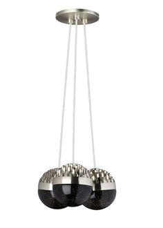 Sphere 3 Light Candle Chandelier