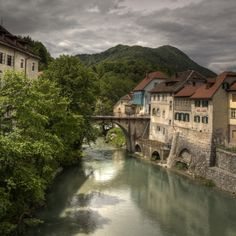 Skofja Loka - The Capuchin Bridge, Slovenia