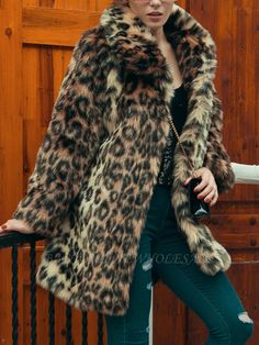 Buy Fur and Shearling Coats For Women from Sicily at Babyonlinewholesale. Online Shopping Brown Leopard Print Fluffy Fur and Shearling Coat, The Best Work Fur and Shearling Coats. Discover unique designers fashion at Babyonlinewholesale Leopard Shirt, Leopard Coat, Brown Leopard, Cheetah Print Shirts, Leopard Prints, Winter Fur Coats, Winter Coats Women, Long Fur Coat, Fluffy Coat