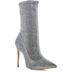 Schutz Women's Mislane Glitter Stretch High Heel Booties (16.210 RUB) ❤ liked on Polyvore featuring shoes, boots, ankle booties, aco steel, schutz, glitter booties, high heel booties, stretch boots and schutz booties