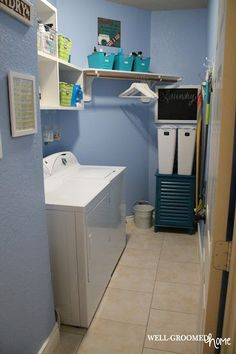 Laundry Room Organization - Well-Groomed Home