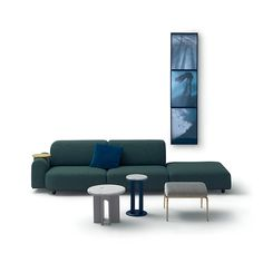 vosgesparis: Meeting Italian design with DDN magazine Contemporary Interior Design, Contemporary Furniture, Modern Design, Green Sofa, Milan Design, Small Tables, Sectional Sofa, Sofas, Chair Design