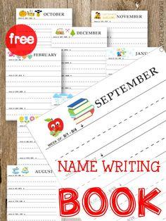 Name Writing Workbook - Playdough To Plato