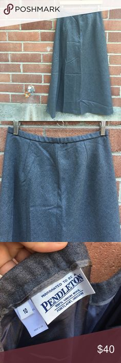 Pendleton Wool Maxi Skirt Pendleton Wool Maxi Skirt, size 10. Heathered gray. EUC, no flaws. Poly sateen lined so it's not itchy. Perfect skirt for the fall or winter. Gorgeous piece. Pendleton Skirts Maxi