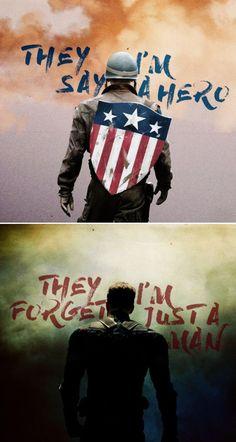 They I'm say a hero. They I'm forget just a man.