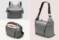 """STOKKE STORIES: Functionality was at the top of the list when designing our new Stokke Changing Bag. """"My favourite feature is the dual functionality as both a shoulder bag and a backpack. When you are out with your baby, it is practical to have your hands free."""" - Lillian, Designer"""