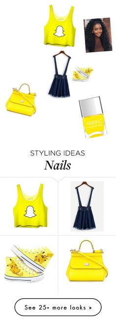 """""""yello"""" by febonka on Polyvore featuring Dolce&Gabbana and Nails Inc."""