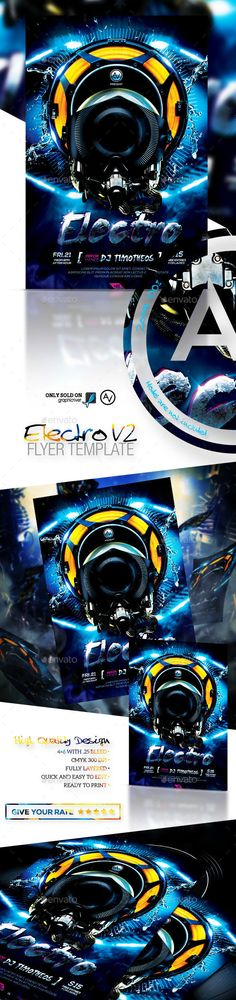 Electro Flyer Template V2, Download Now! http://graphicriver.net/item/electro-flyer-template-v2/9286923?ref=amorjesu