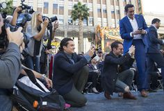 #LeePace and #RichardArmitage in the audience at the Hollywood Walk of Fame ceremony for Peter Jackson, Dec. 8, 2014.