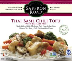 Thai Basil Chili Tofu with Basmati Rice from Saffron Road | 17 Frozen Dinners That Aren't Terrible For You